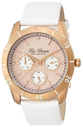8ef1f04317a1 Amazon.com  Ted Baker Women s TE2102 Dress Sport Multi-Function Rose Gold  Watch  Watches
