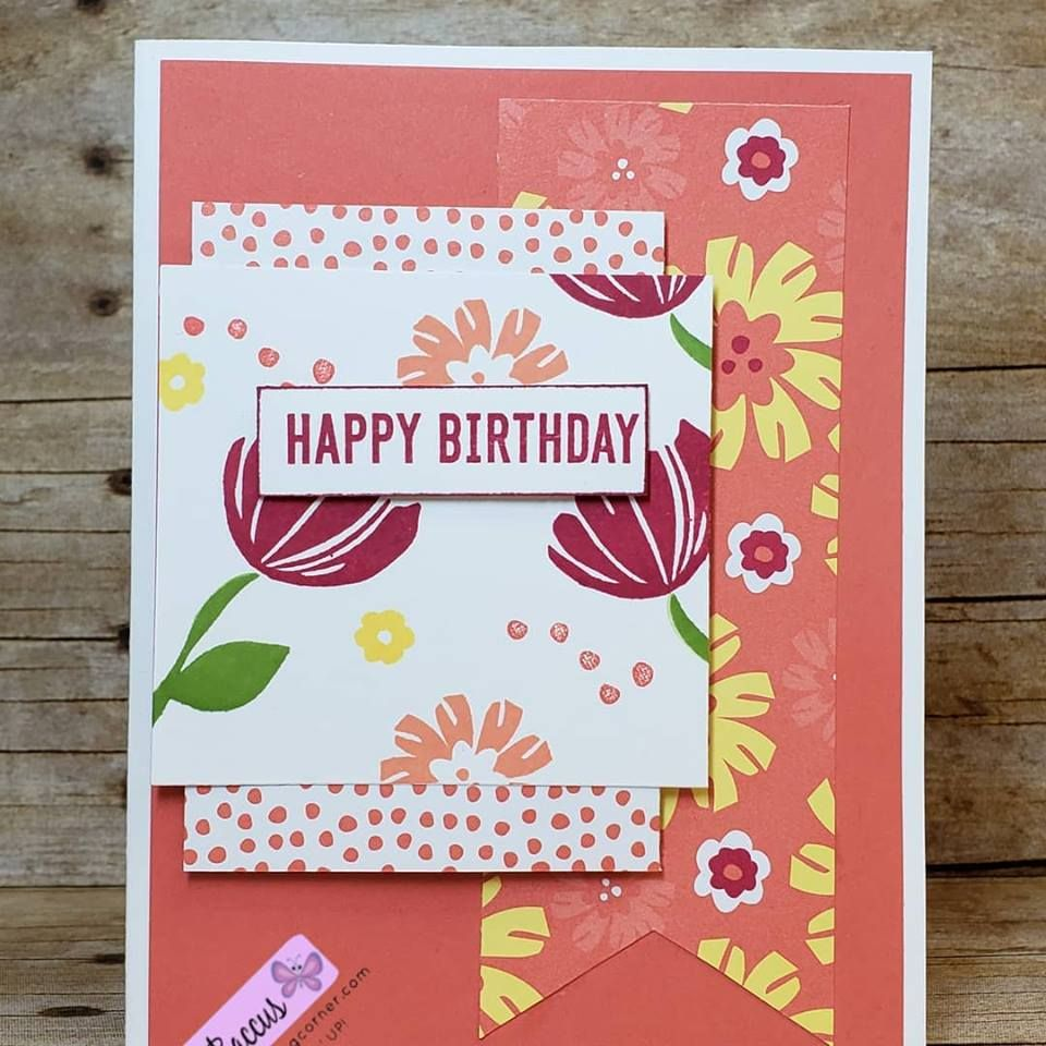 Bloom By Stamp Set Make Creating This Birthday Card Easy Love The Bright Colors Of Happiness Blooms Designer Series Paper