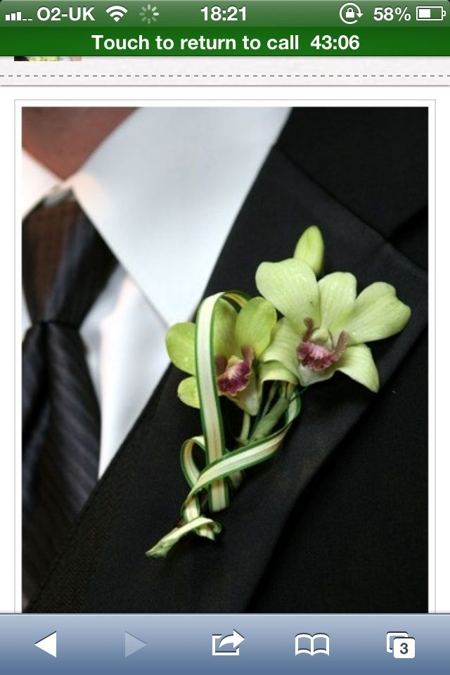 green orchid, they will be present in my boquet along with white cala lillies :D