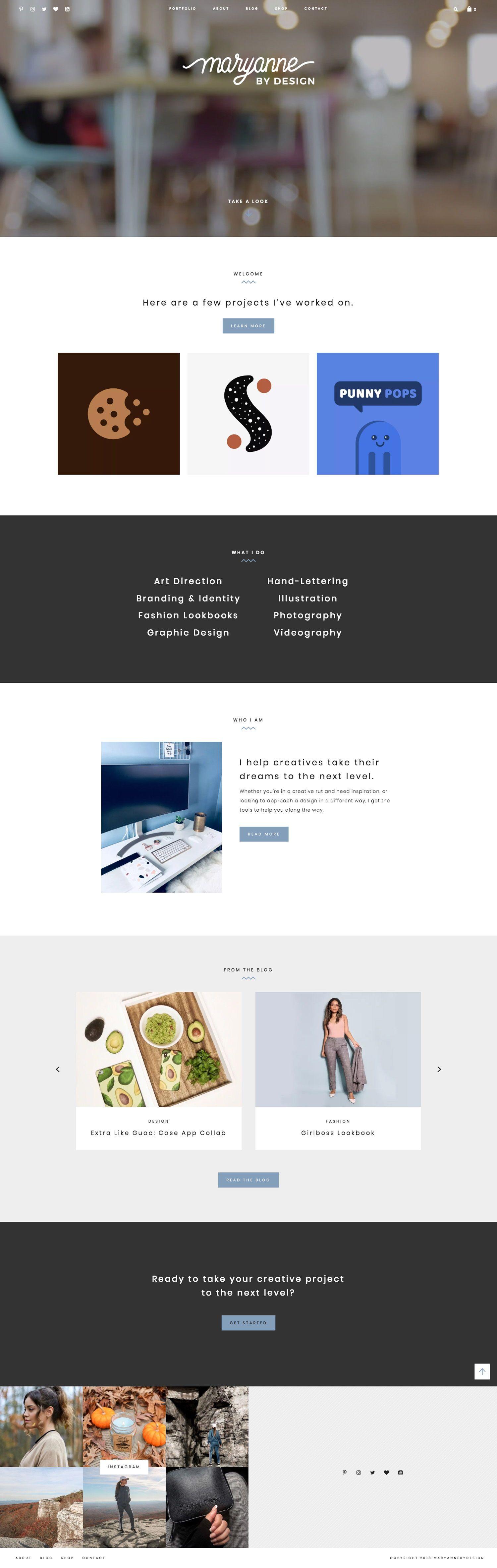 Maryanne By Design Features Work From New York Graphic Designer Mary Ann Her Por Web Design Inspiration Creative Wordpress Web Design Portfolio Web Design