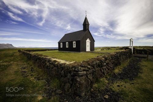 Black church by JoseMoreira1  landscape church landmark iceland budir Black church JoseMoreira1