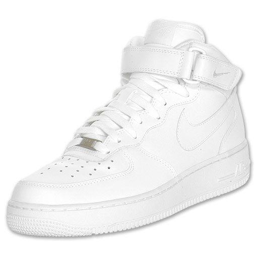 Los Hombres De Nike Casual Air Force 1 Mid Casual Nike Zapatos Blanco 6b8750