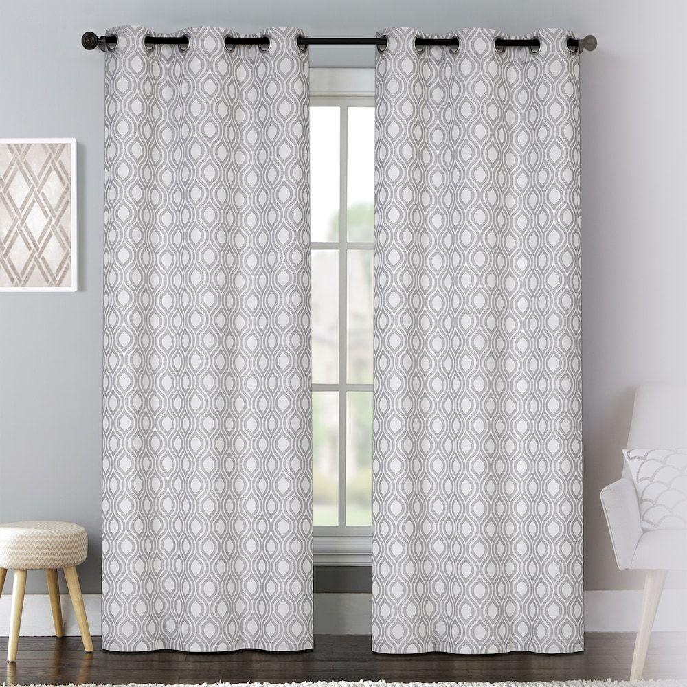 United Curtain Co Mystique Window Curtain Set Grey Curtains