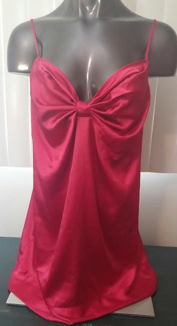 3f8116d8cb Victorias Secret lingerie sissy negligee babydoll nighty red silky polyester  L  VictoriasSecret