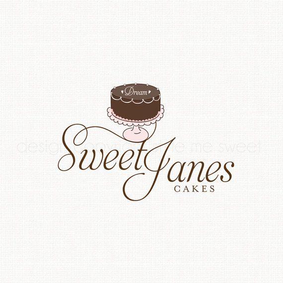 Cake Logo Design Bakery Logo Bakers Logo By Stylemesweetdesign