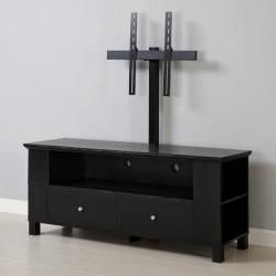 Black Wood 60inch TV Stand with Mount For the Home Pinterest