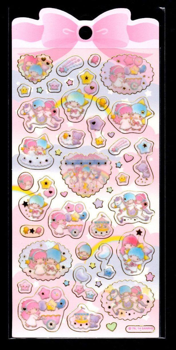 Planner Stickers | Little Twin Stars Label Stickers Sanrio Name Labels| Kawaii Stickers Sanrio Stickers