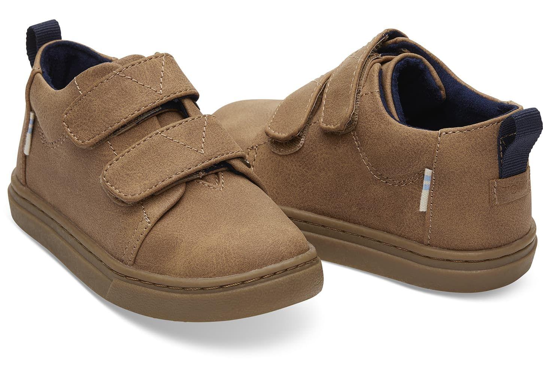 4435a76fe8f Drizzle Grey Felt Polka Dots Tiny TOMS Lenny Mid Sneakers | TOMS ...