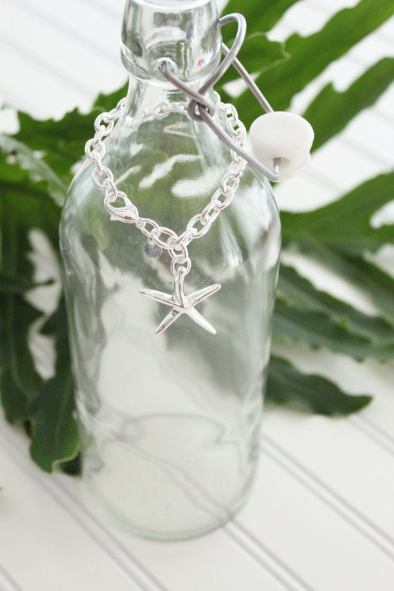 Starfish Bracelet on Large Link Chain in by StarfishTradingCo, $65.00