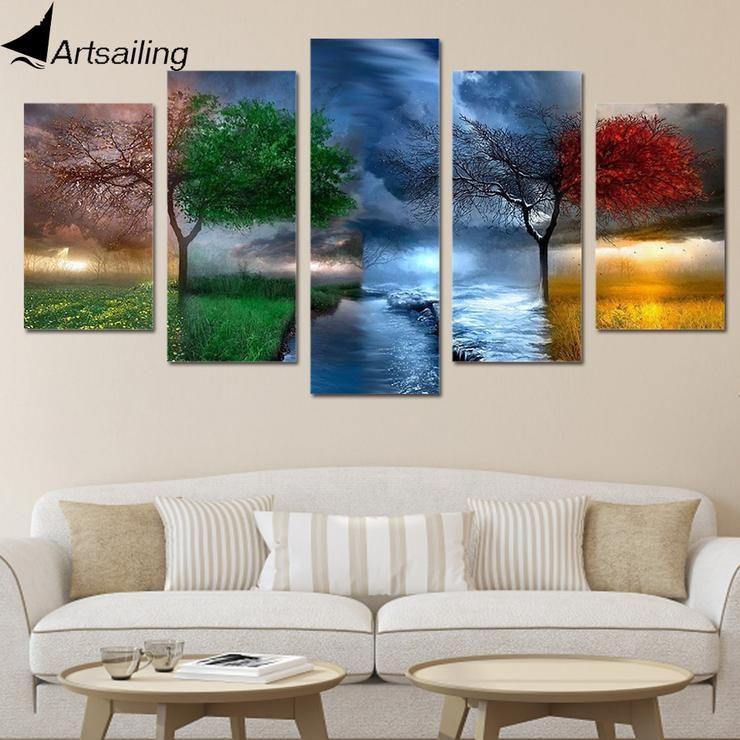 HD Printed Fantasy Nature Painting Canvas Print room decor