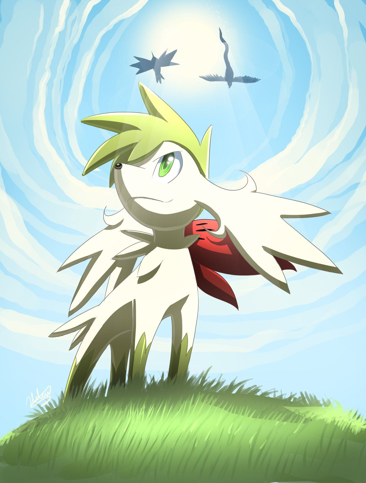 Gift art shaymin by on