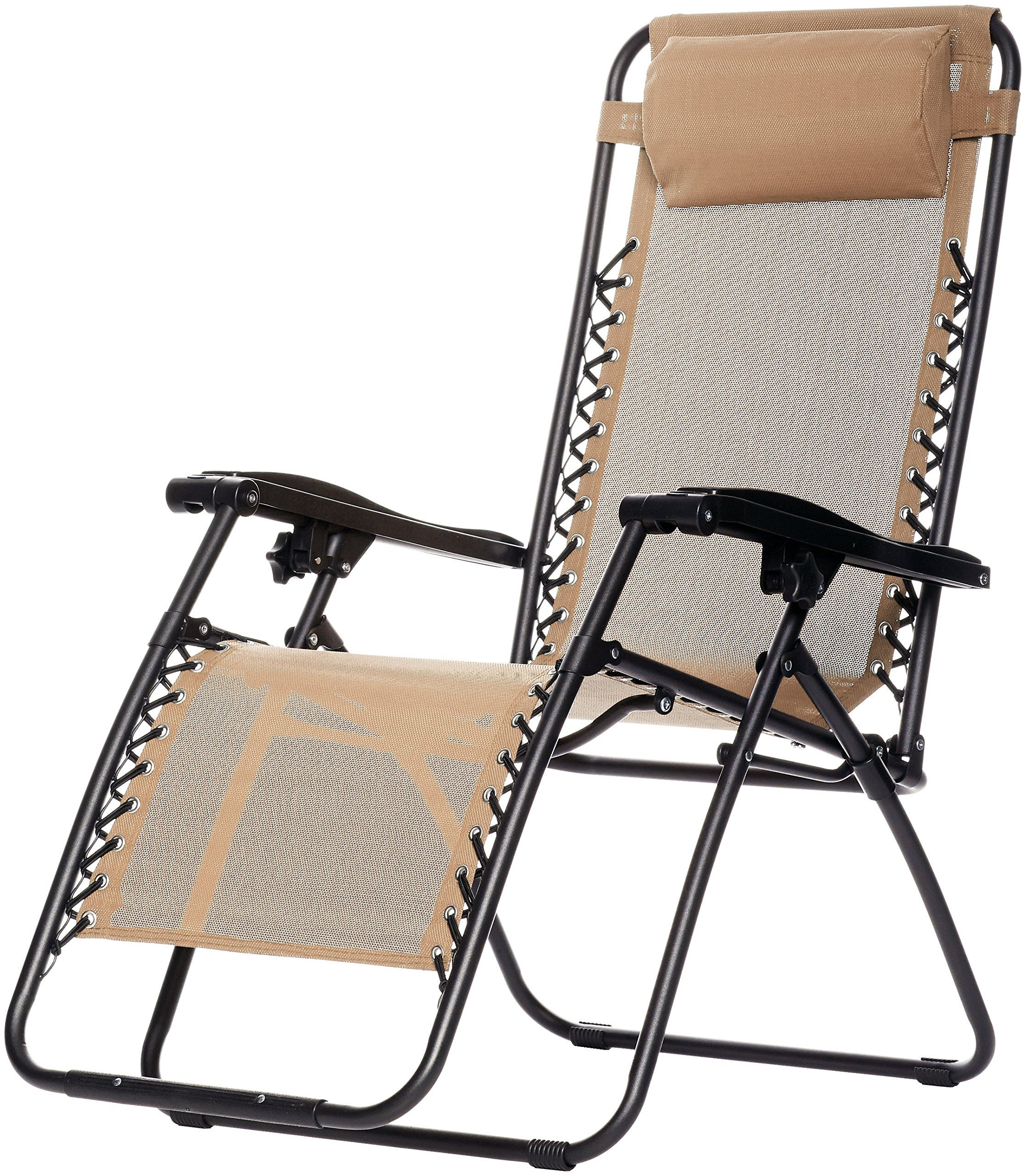 Amazonbasics Zero Gravity Chair Beige Check Out This Great Product This Is An Affili Zero Gravity Chair Outdoor Lounge Chair Outdoor Patio Lounge Chairs