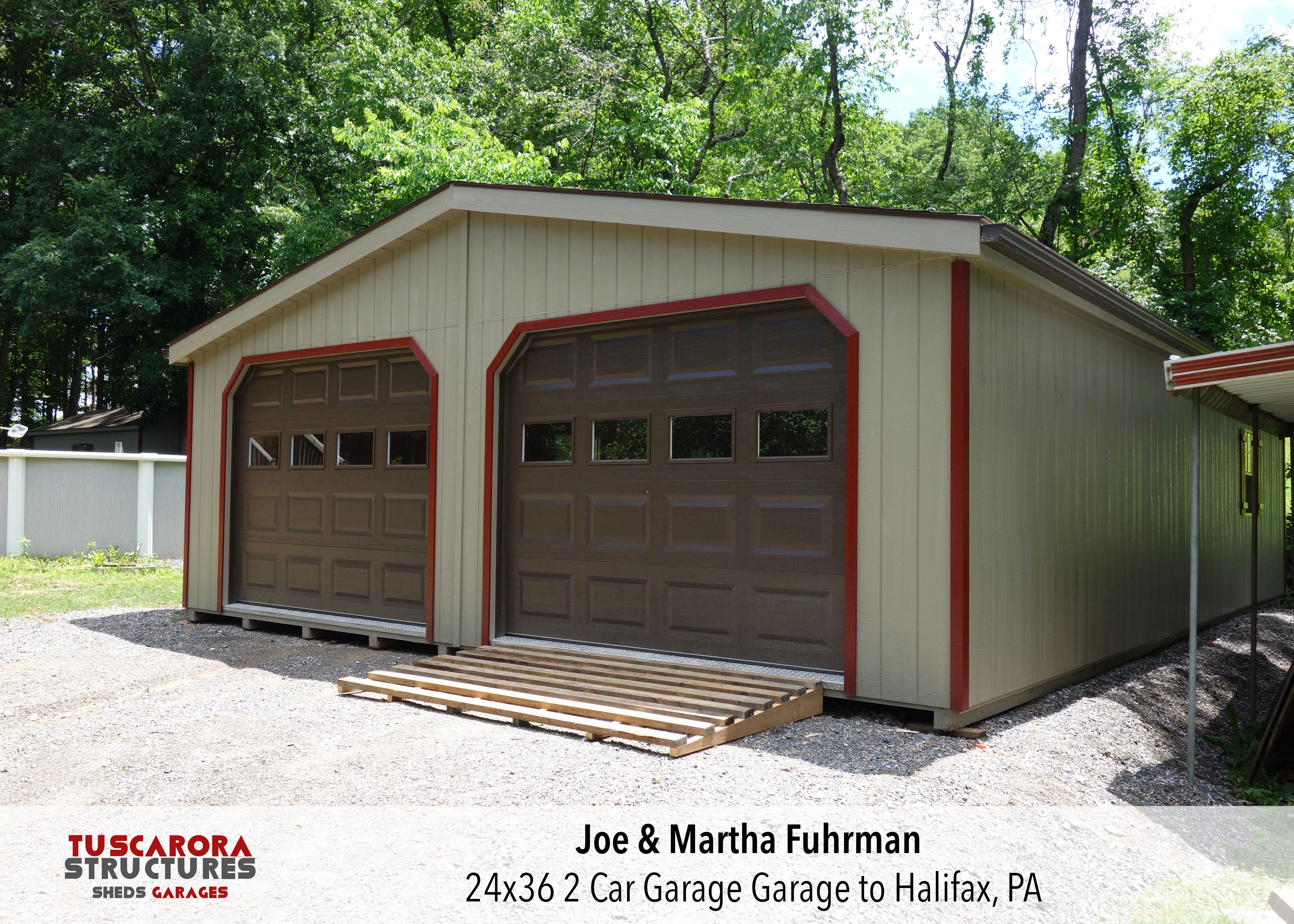 A 24x36 2 Car Garage We Built And Assembled For Joe Martha Fuhrman In Halifax Pa Garage Plans Shed Retail Store Interior Design