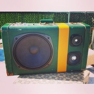 Your old suitcase can be refashioned into a speaker box. | 13 Ingenious Ways To Repurpose Everyday Things