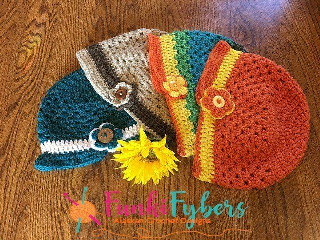 Granny Flower Hat - funkifybers.com | Predmeti od materijala ...