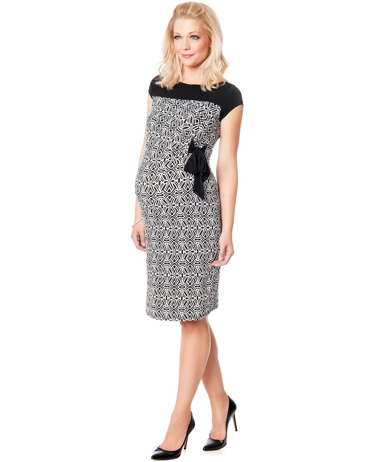 e20f12d34 Motherhood Maternity Printed Side-Tie Dress - Maternity - Women - Macy s