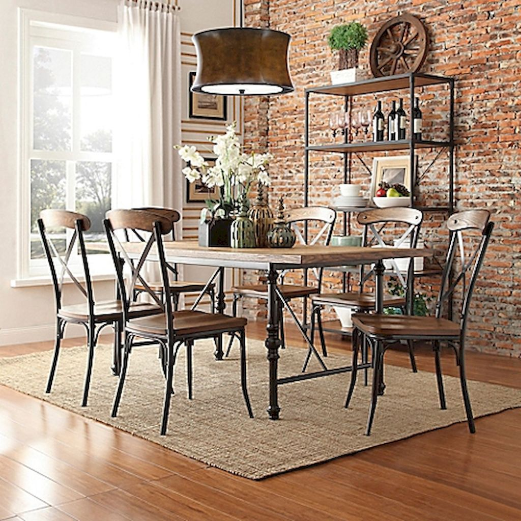 100 best farmhouse dining room decor ideas 116