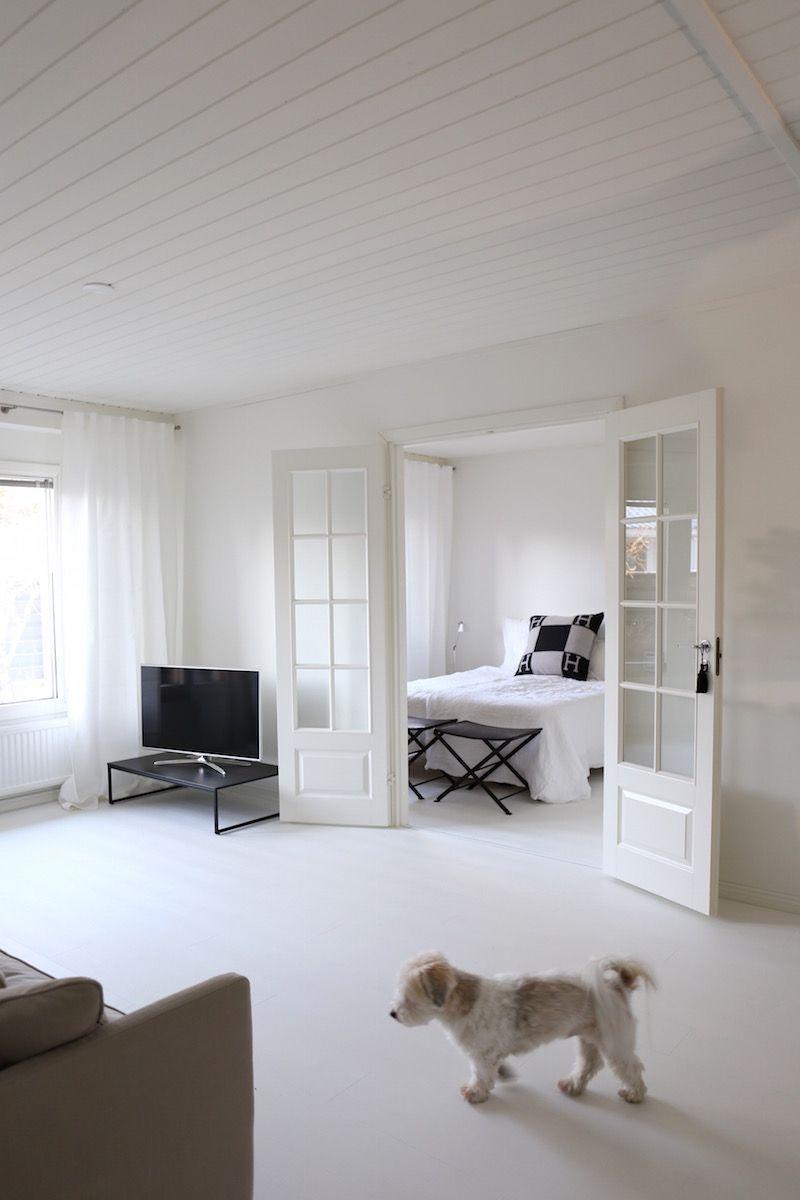 Homevialaura White Laminate Flooring Quick Step Impressive Im 1859 Orient Occident Living Room