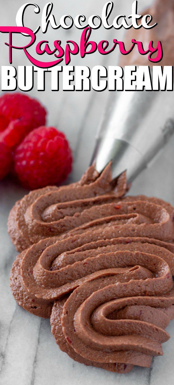 Chocolate Raspberry Buttercream Frosting. Be prepared to fall in love with this amazing homemade buttercream frosting recipe. The combination of chocolate buttercream with fresh raspberries is one that can not be beat!