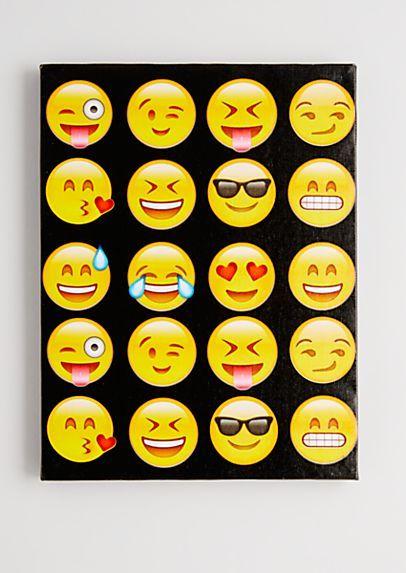 So Emojinal Stretched Canvas Emoji Painting Emoji Art Stretch Canvas