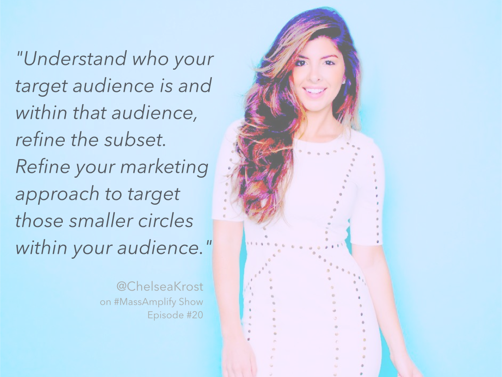 Chelsea Krost quote from episode #20 of the #MassAmplify Show http://massamplifyshow.com  @chelseakrost