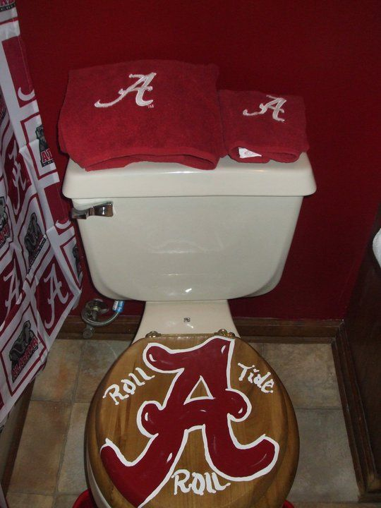 Nice Alabama Toilet. Roll Tide Or Is The Toilet Perfect Place For The Team To Be