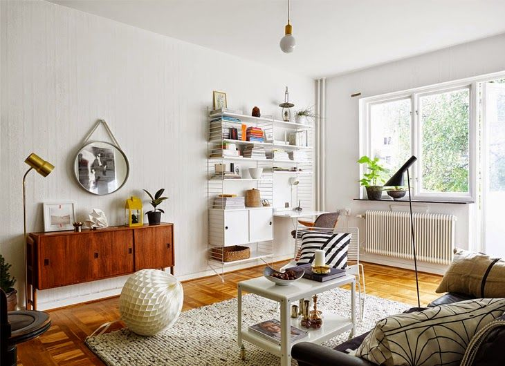 Contemporary Scandinavian Design mid century awesomeness in a swedish apartment (design attractor