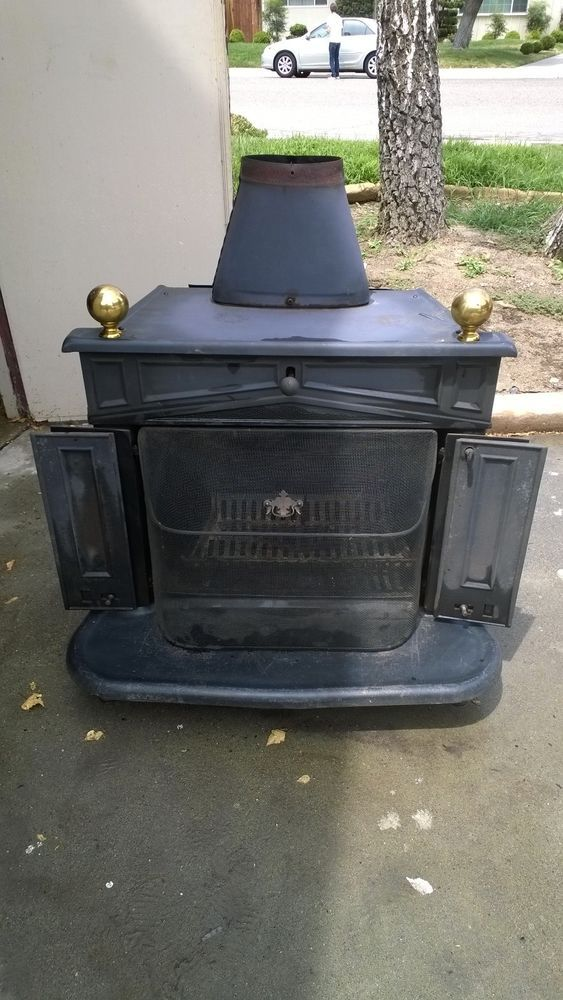 Franklin Cast Iron Wood Burning Stove MODEL 143-84521 - Ben Franklin Cast Iron Wood Burning Stove Heater Fireplace Antique