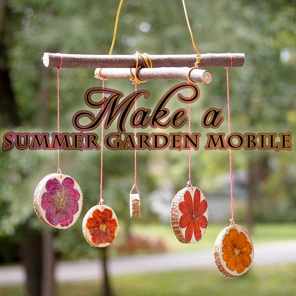 Garden Craft Ideas lovely seed starters Make A Decoupaged Flower Garden Mobile Easy For Kids