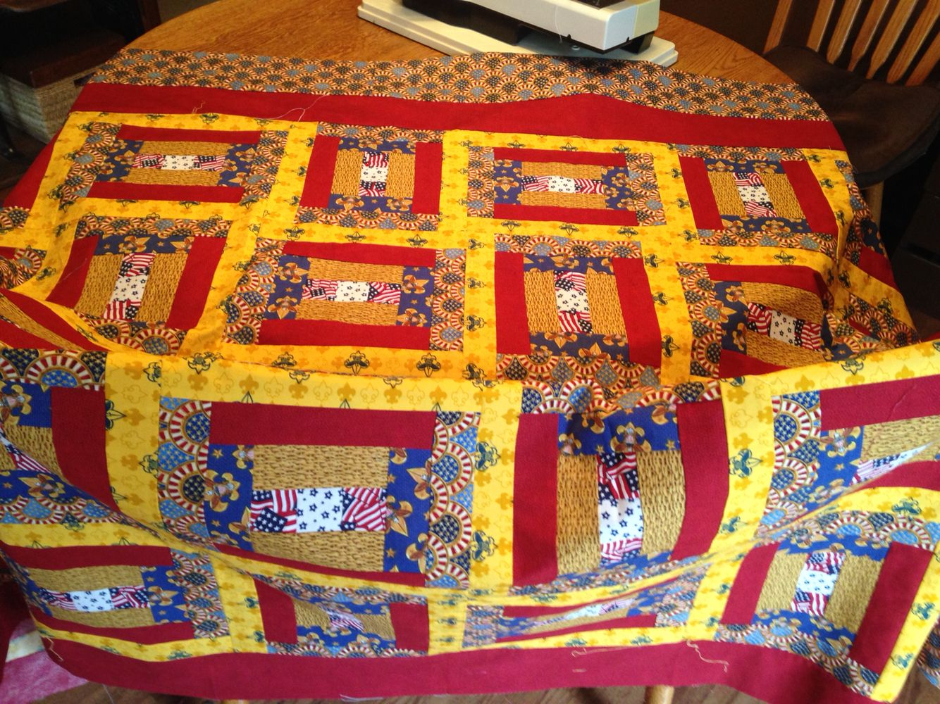 Eagle Scout Honor Quilt top only