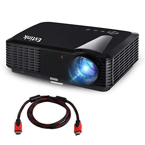 Full Hd Portable Video Projector Support 1080p 2500 Lumens 1280 800 Resolution Home Theater Projector 200 Inch Screen Fit For Laptop Iphone Smartphone Tv Tv Box Free Hdmi Cable