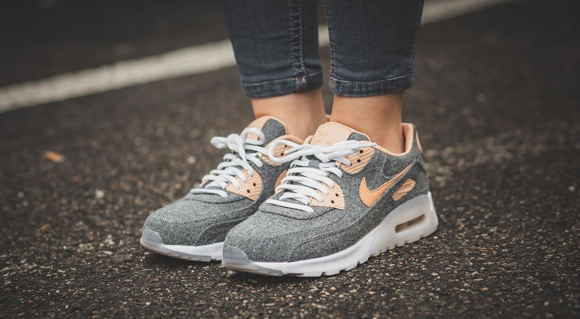 half off 9ed58 ff07e Nike W Air Max 90 Ultra Premium Grey   Beige Around   150€   £120 Credit   Afew  Store  Nike  Inside  Sneakers