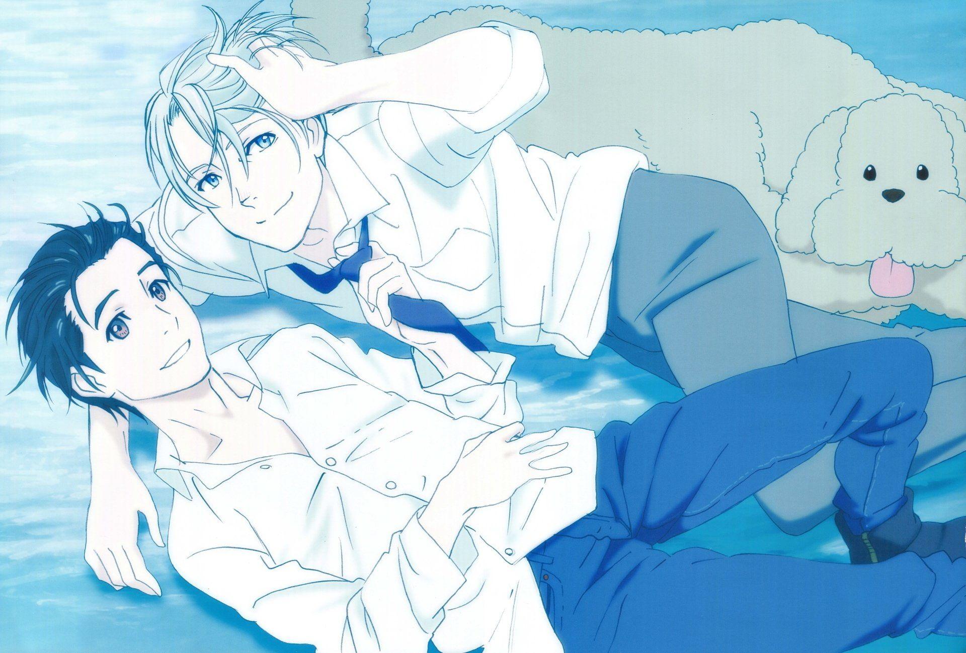 HD wallpaper: two anime men wallpaper, Yuri!!! on Ice