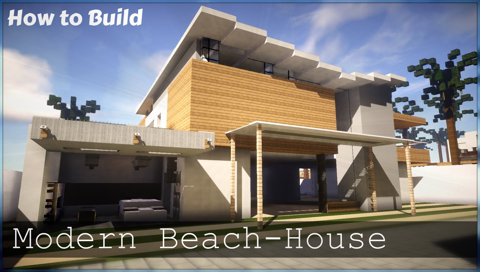 Minecraft How to Build Modern Beach House