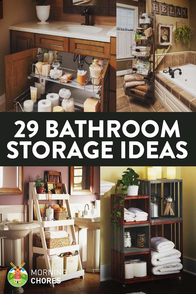 29 E Efficient Bathroom Storage