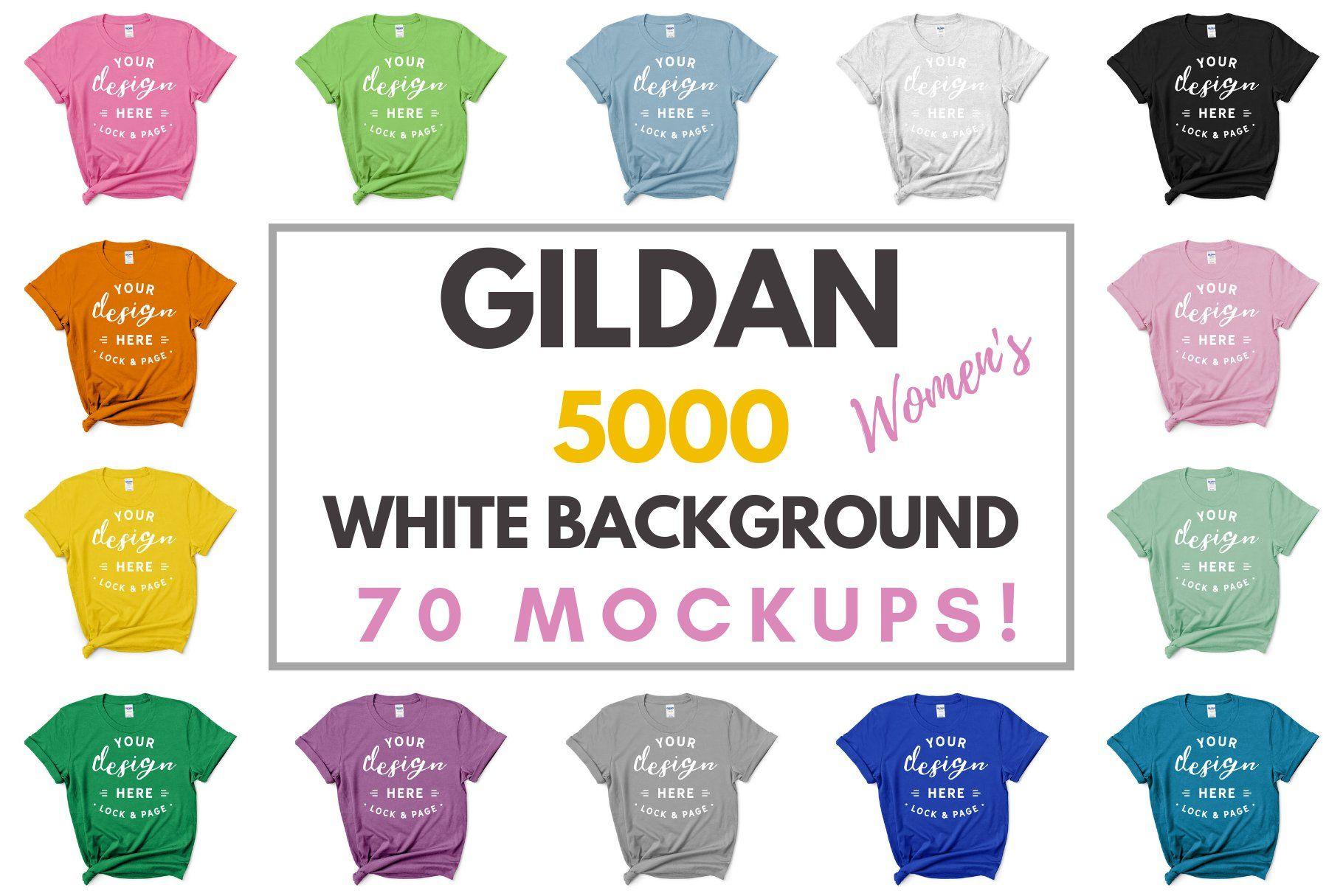 Download Female Gildan 5000 Mockup Bundle Tshirt Mockup Design Mockup Free Psd Mockup Template