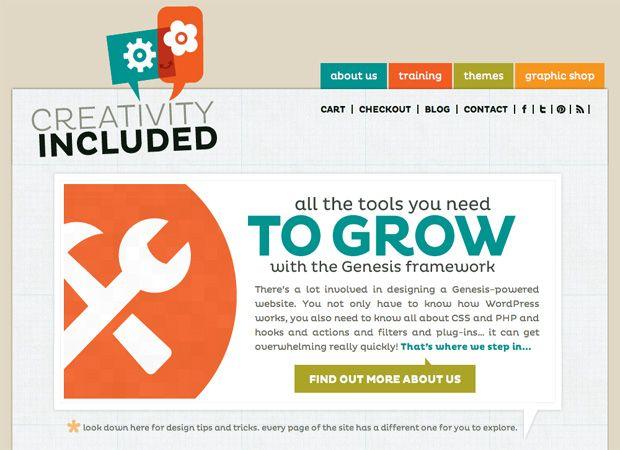 Creativity Included Studiopress Website Inspiration Seo Digital Marketing