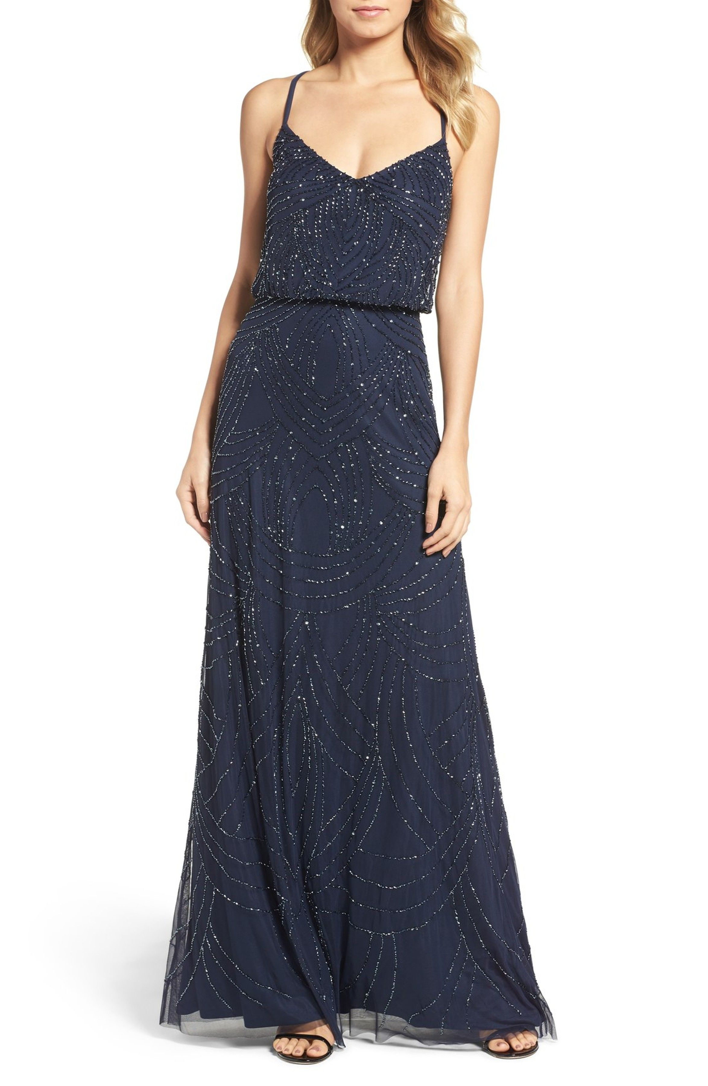 Main Image - Adrianna Papell Beaded Chiffon Blouson Gown | Never met ...