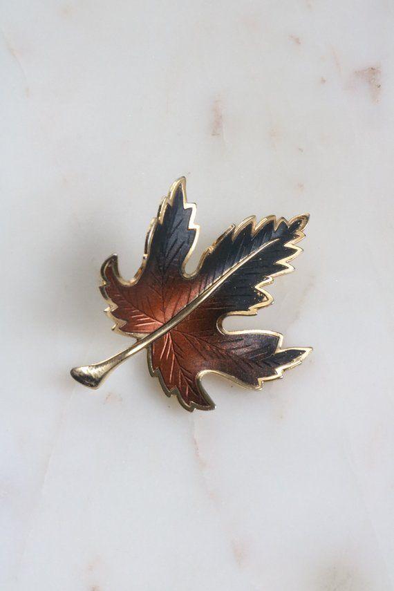 331c76bea Vintage Maple Leaf Brooch - Autumn Leaf Brooch | Products | Brooch ...