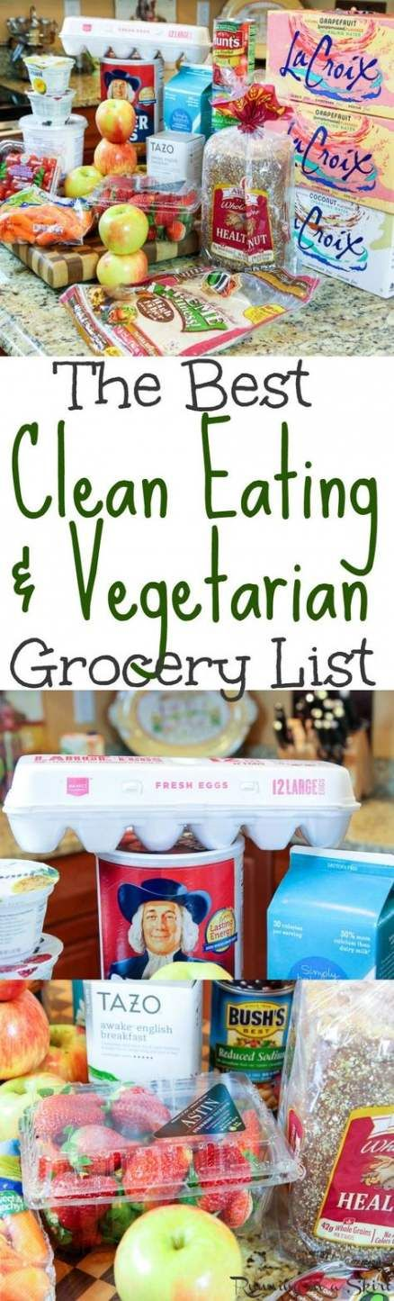 68 Trendy Fitness For Beginners Clean Eating Grocery Lists #cleaneatingforbeginners