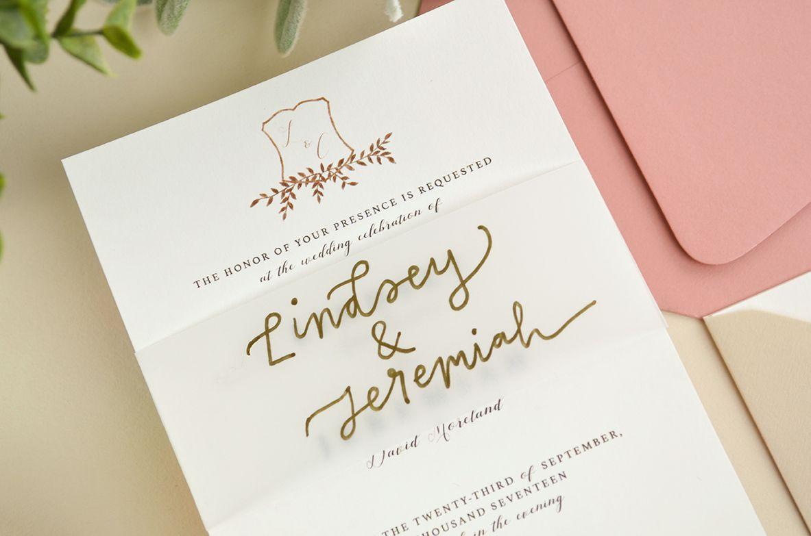 4 Ways to DIY Elegant Vellum Wedding Invitations | Diy wedding ...
