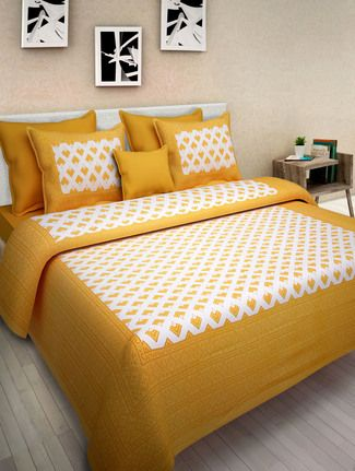 pure cotton 1 double bed sheet with 2 pillow cover in 2019 rh pinterest com