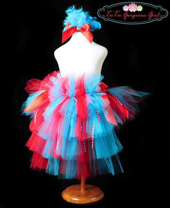 Dr Seuss Ribbon Bustle TutuHalloween Halloween/Autumn Tutus - dr seuss halloween costume ideas