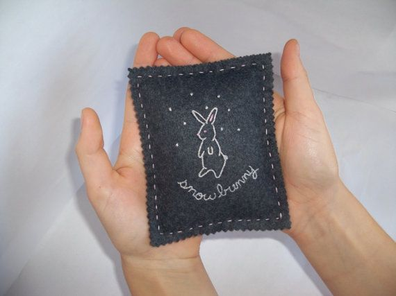 Snow Bunny Hand Warmer by artinfibers on Etsy