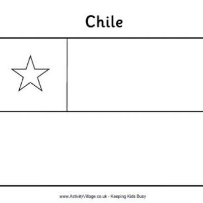 Chilean Flag Printable Coloring Page Chilean Flag Chilean Flag