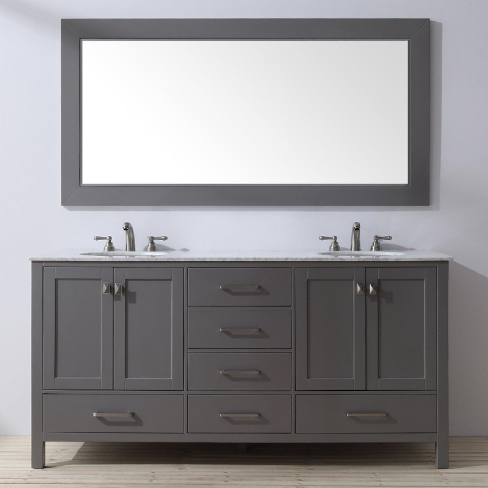 stufurhome malibu 72 in double sink bathroom vanity in 2019 rh pinterest com