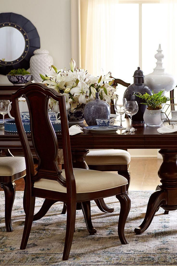 the havertys orleans dining table is an elegant pedestal table with rh pinterest com