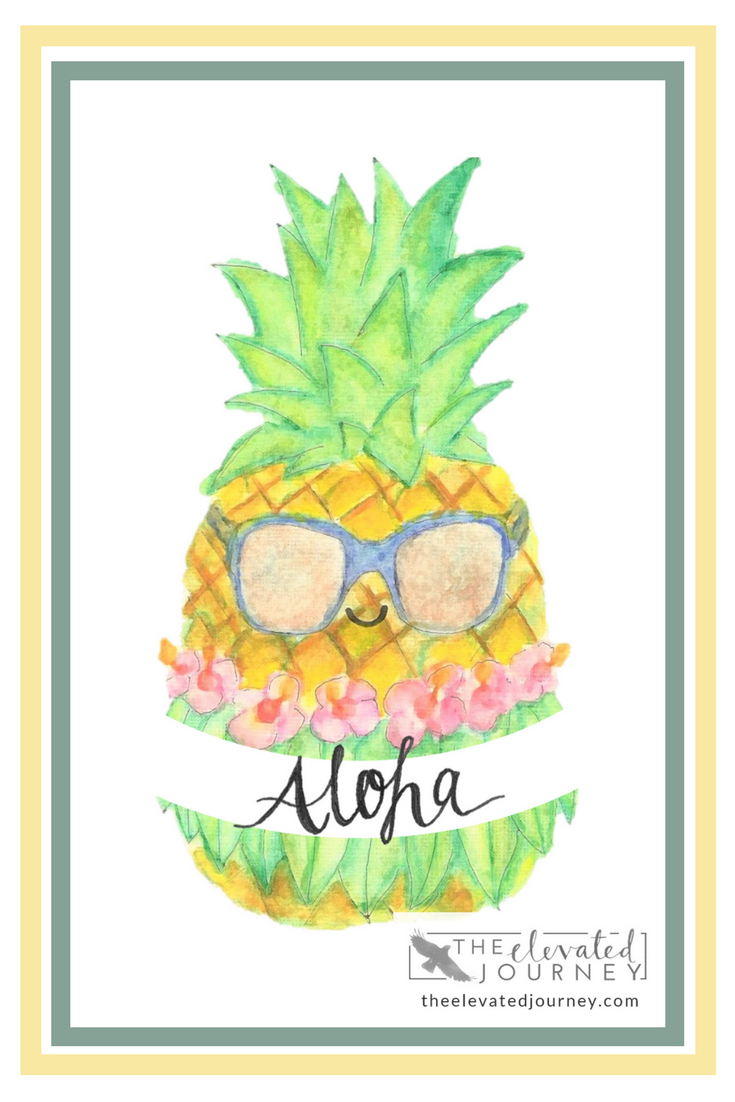 Pineapple Decor Pineapple Prints Wall Art Prints Watercolor Clipart ...