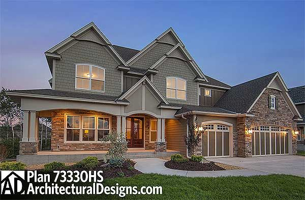 Plan 73330hs Exclusive Craftsman House Plan With Amazing Great Room Craftsman House Craftsman House Plans House Plans