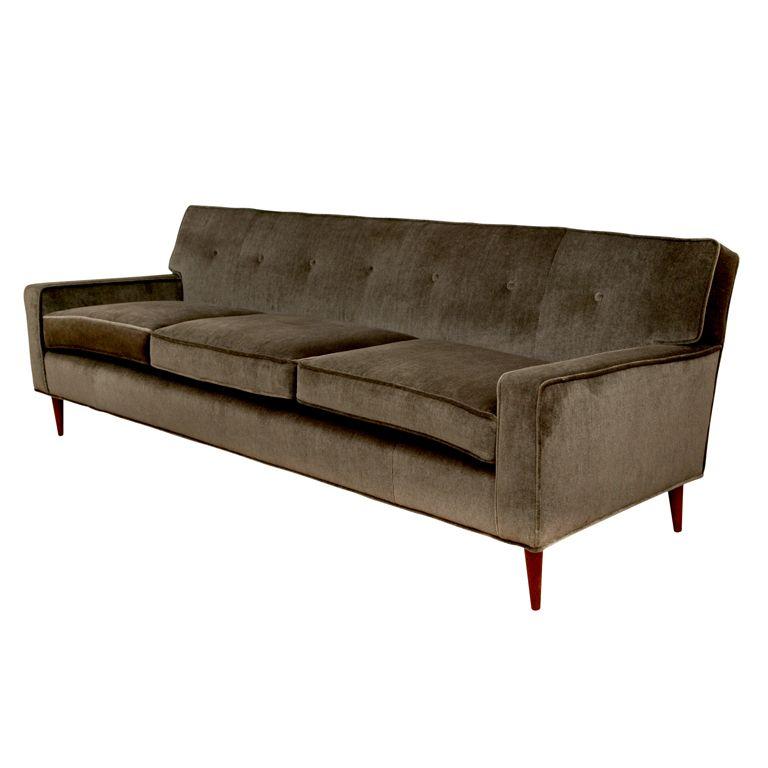 mid century mohair sofa seating sofa mid century modern design rh pinterest com